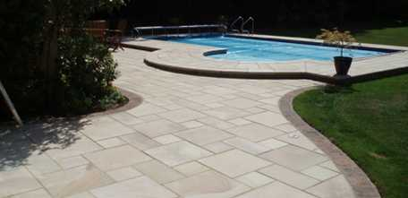 Patio and pool Cheam