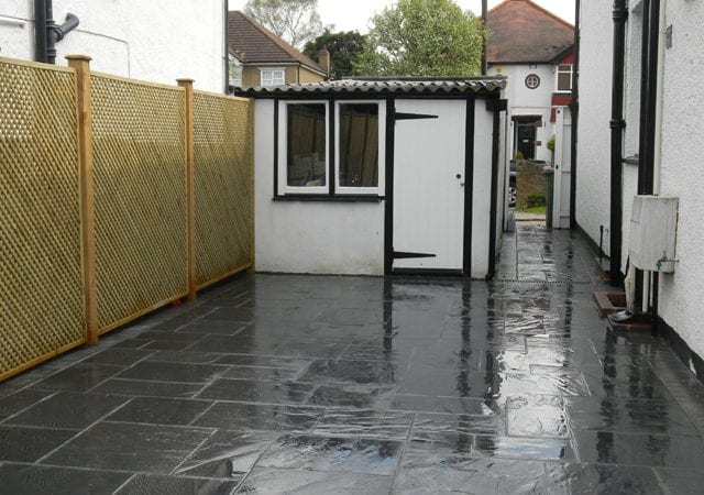 Limestone patio - Waddon